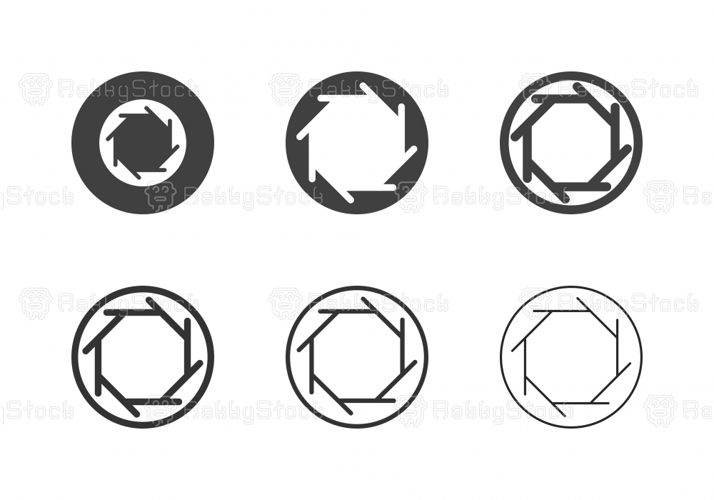 F-Stop 2 Aperture Icons - Multi Series