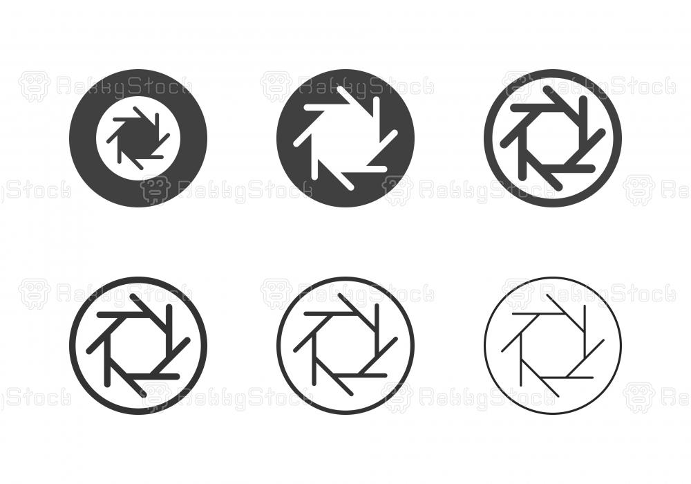 F-Stop 5.6 Aperture Icons - Multi Series