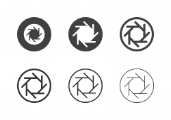 F-Stop 5.6 Aperture Icons - Multi Series