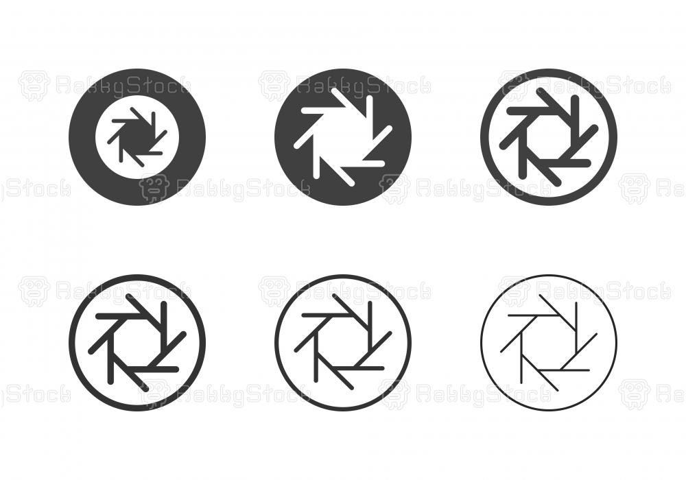 F-Stop 8 Aperture Icons - Multi Series
