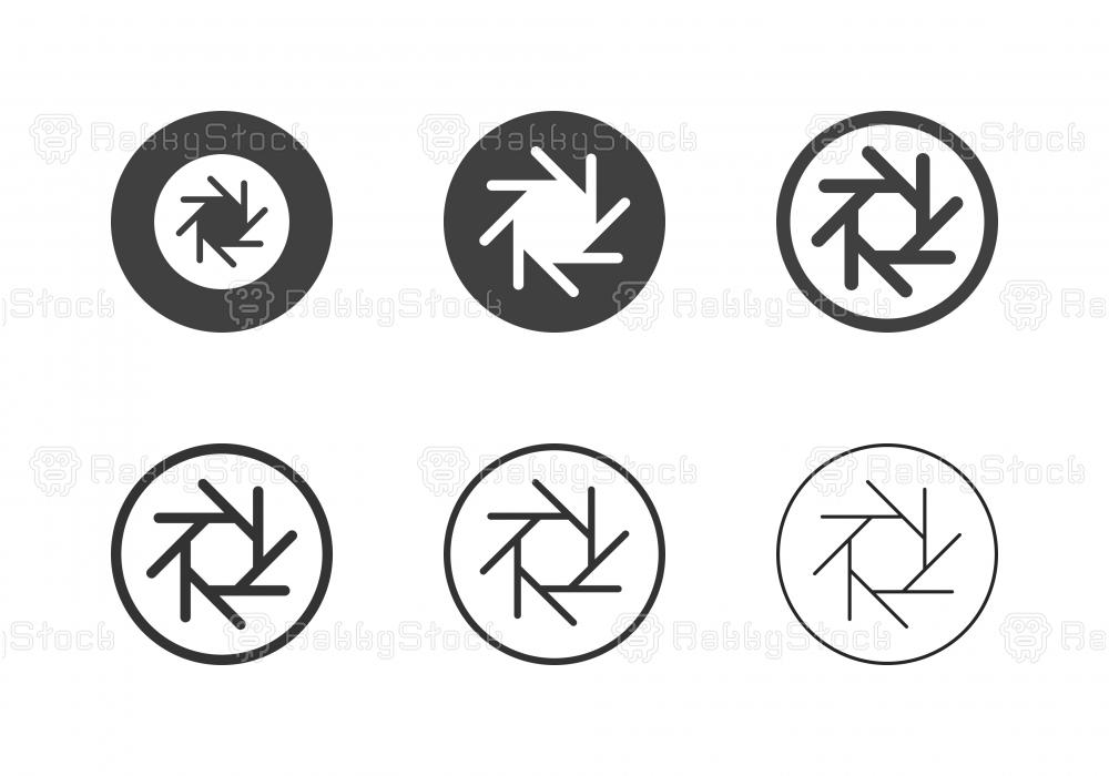 F-Stop 11 Aperture Icons - Multi Series