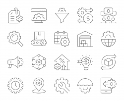 Product Management - Thin Line Icons