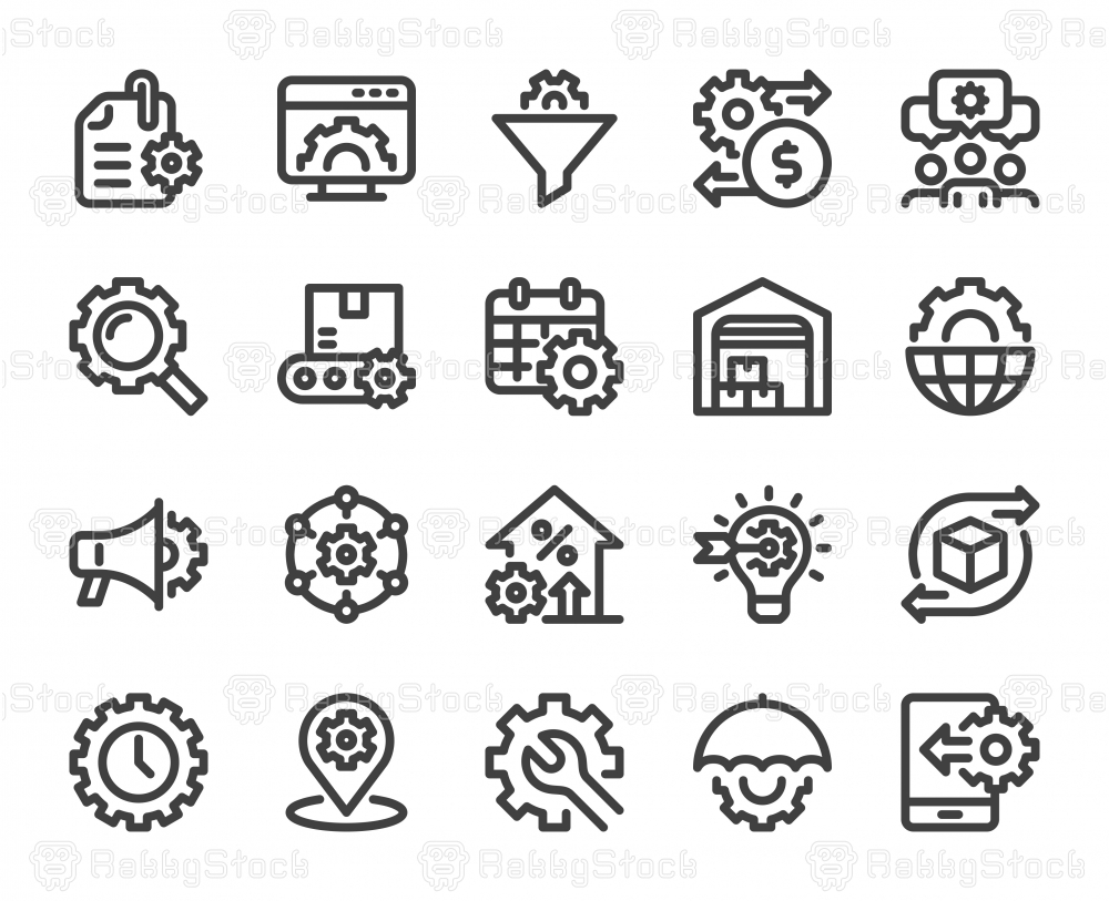 Product Management - Bold Line Icons