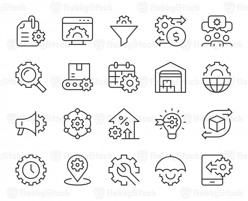 Product Management - Light Line Icons