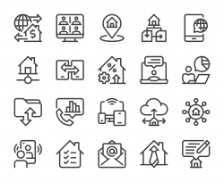Work from Home - Line Icons