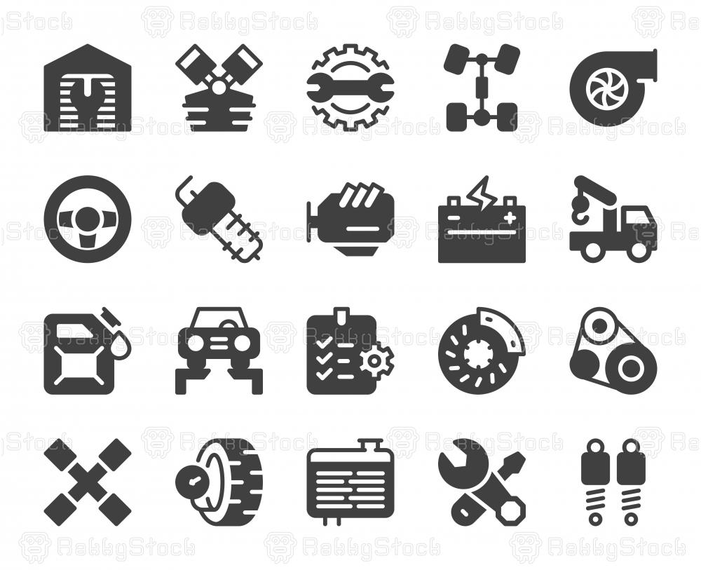 Auto Repair Shop - Icons