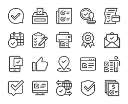 Approve - Line Icons