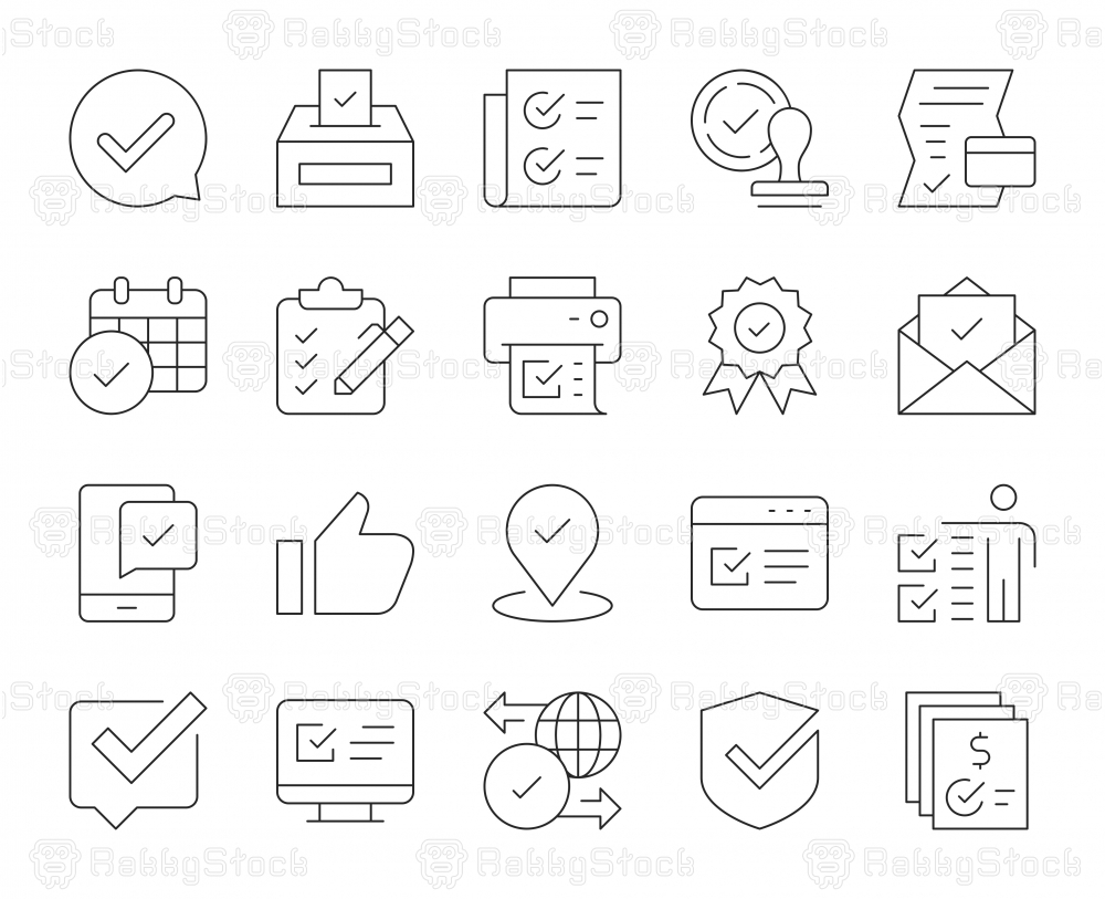 Approve - Thin Line Icons