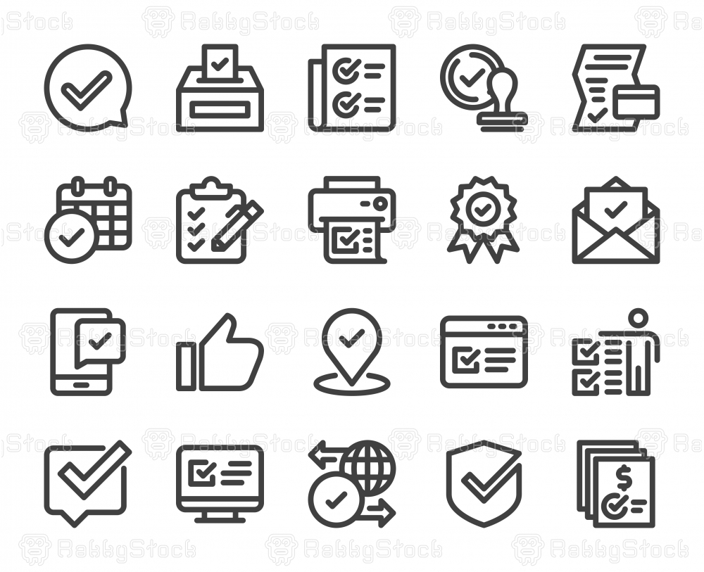 Approve - Bold Line Icons