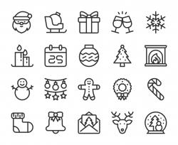 Christmas - Line Icons