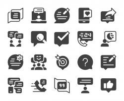 Speech Bubble Communication - Icons