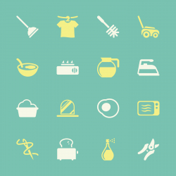 Housekeeping Icons - Color Series   EPS10