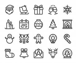 Christmas - Bold Line Icons