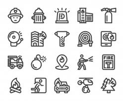Fire Brigade - Bold Line Icons