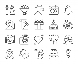 Wedding - Light Line Icons