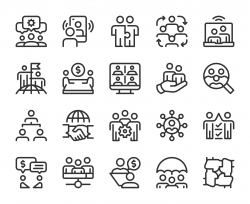 Business Team - Line Icons