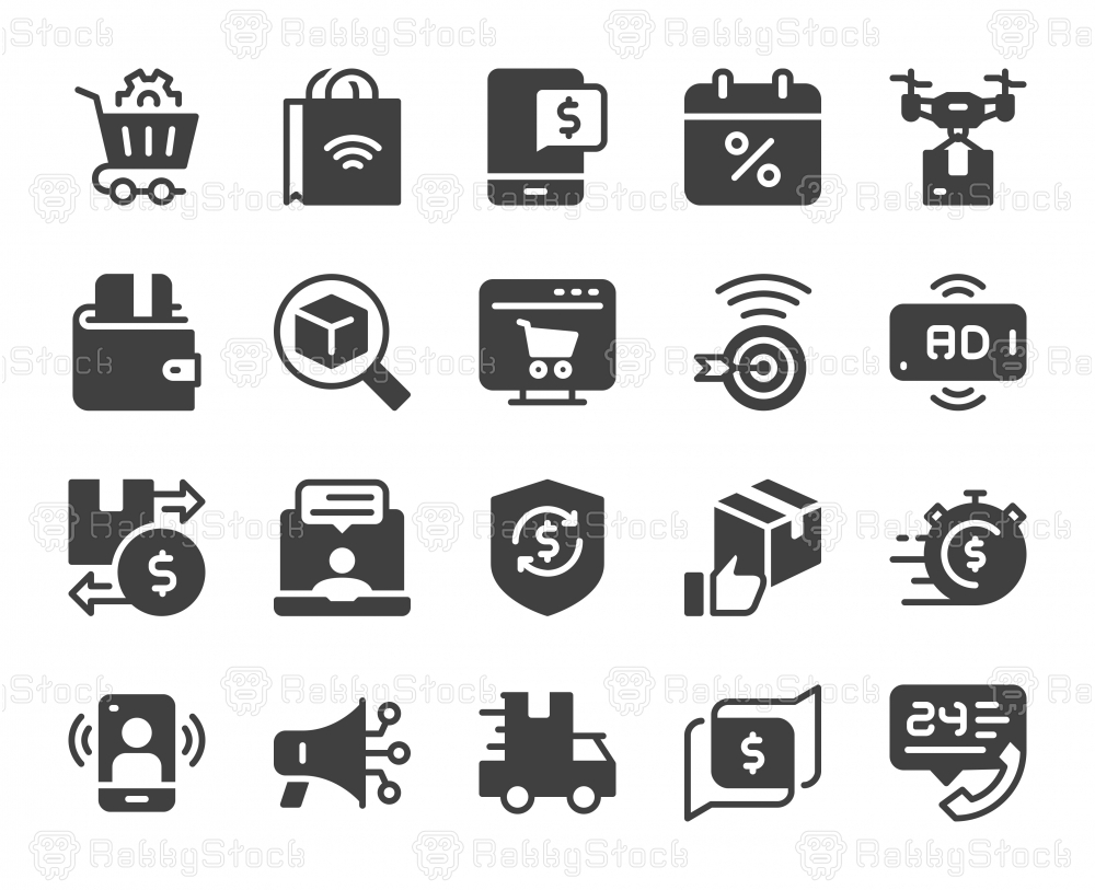 Shopping Online - Icons