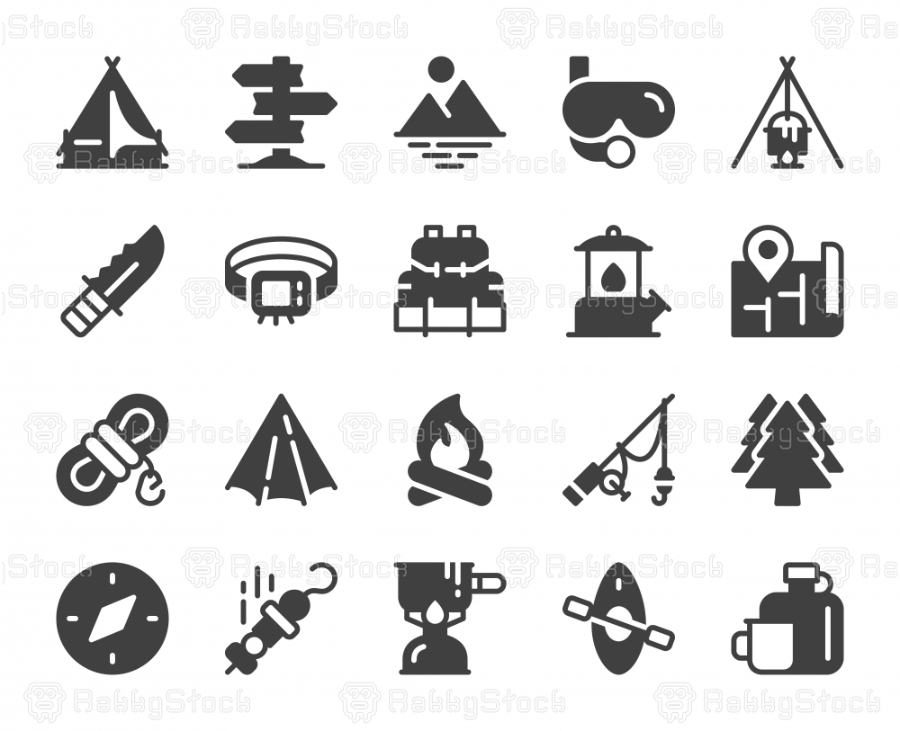 Camping and Outdoor - Icons