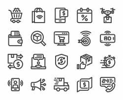 Shopping Online - Bold Icons