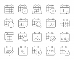 Calendar - Thin Line Icons