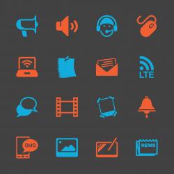 Communication Icons Set - Color Series | EPS10