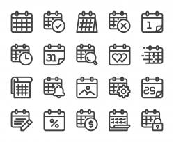 Calendar - Bold Line Icons