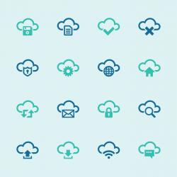 Cloud Computing Icons Set - Color Series | EPS10