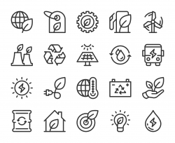 Ecology & Recycling - Line Icons