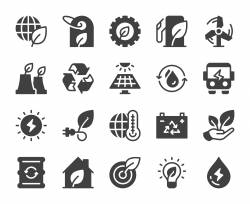 Ecology & Recycling - Icons
