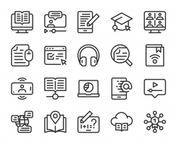 Online Education - Line Icons