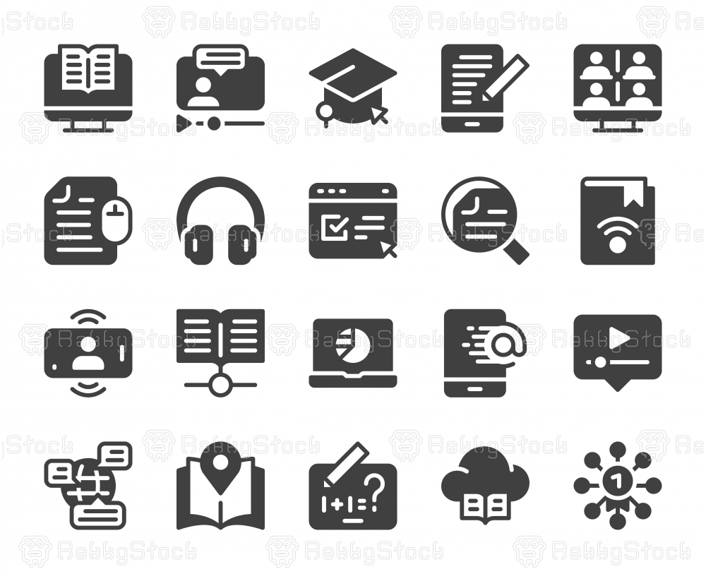 Online Education - Icons