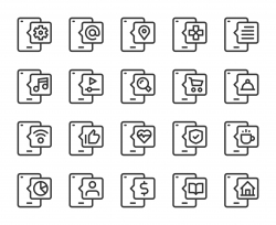Smart Phone - Line Icons