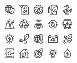 Ecology & Recycling - Bold Line Icons