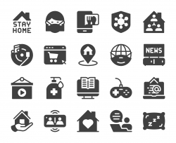 Stay At Home - Icons