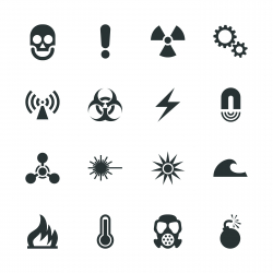 Hazard Sign Silhouette Icons