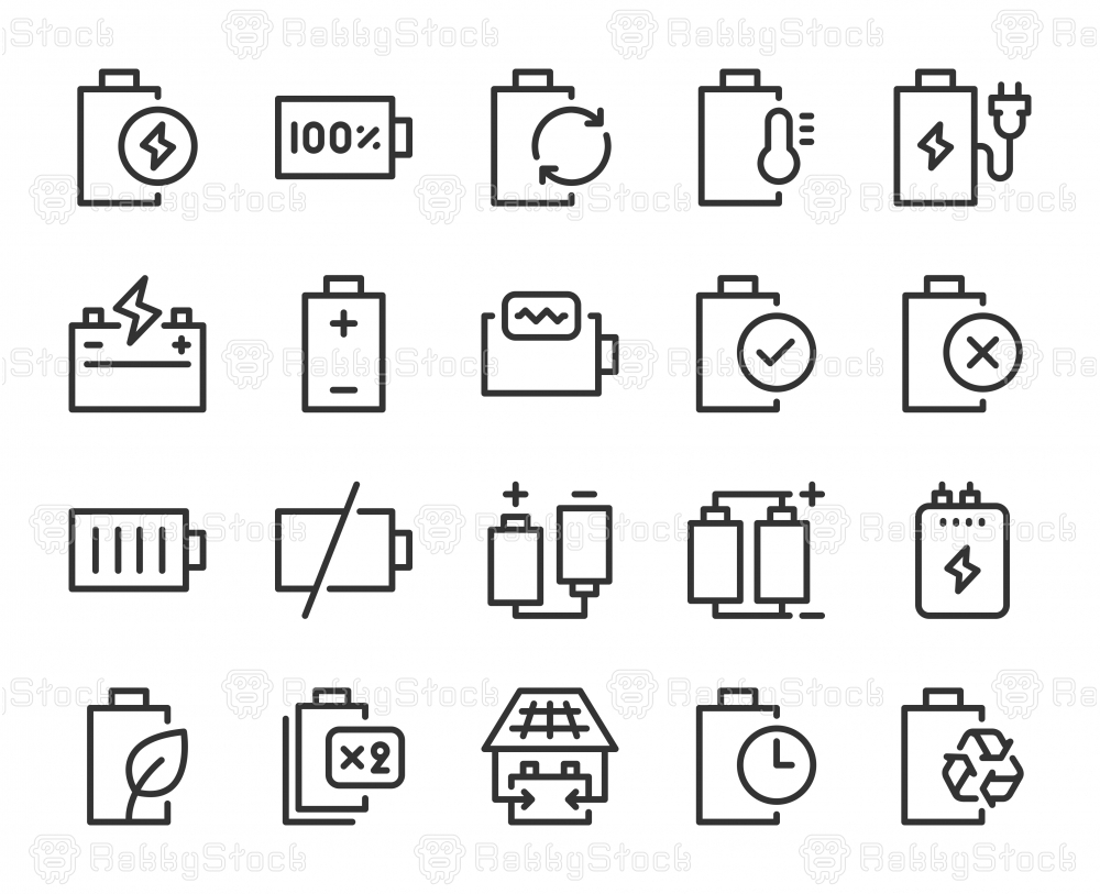 Battery - Line Icons