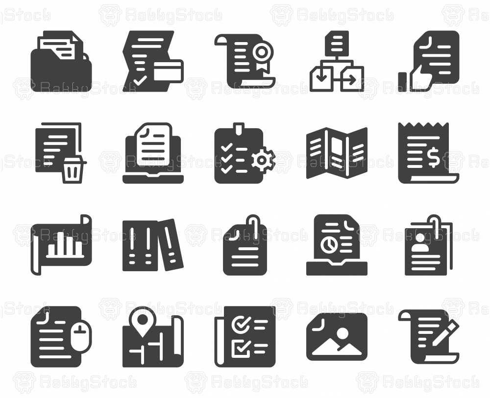 File and Document - Icons