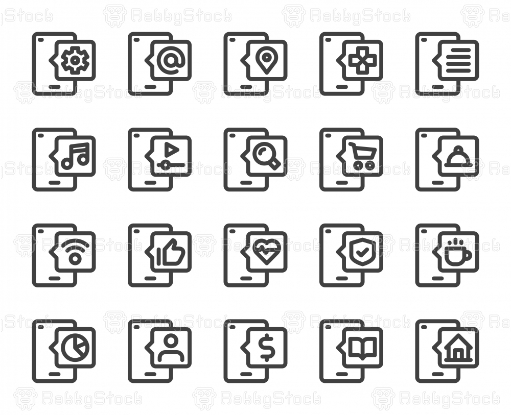 Smart Phone - Bold Line Icons