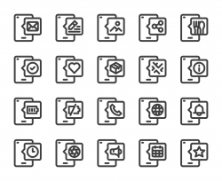 Mobile Phone - Bold Line Icons
