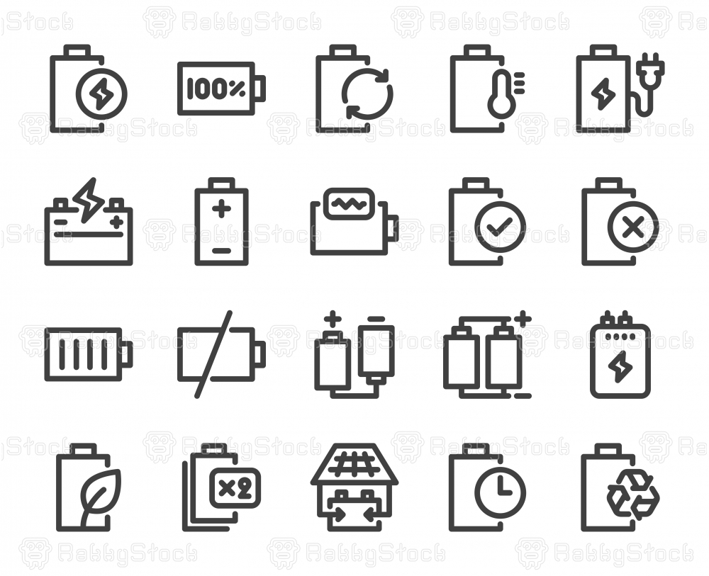 Battery - Bold Line Icons