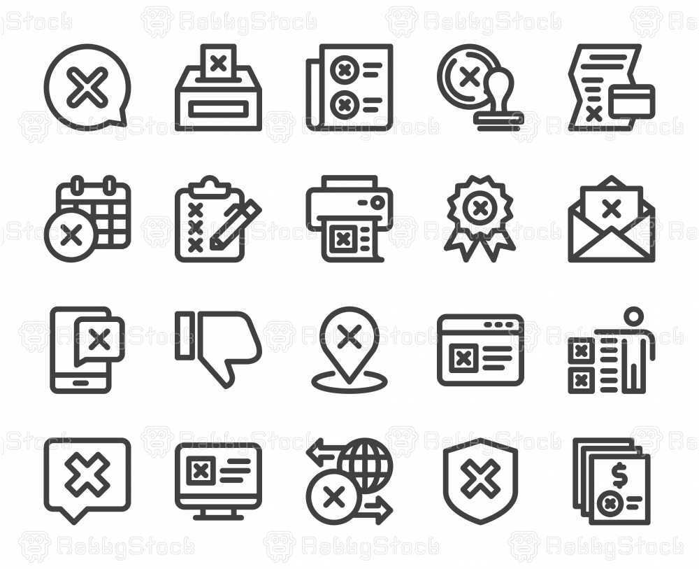 Rejection - Bold Line Icons