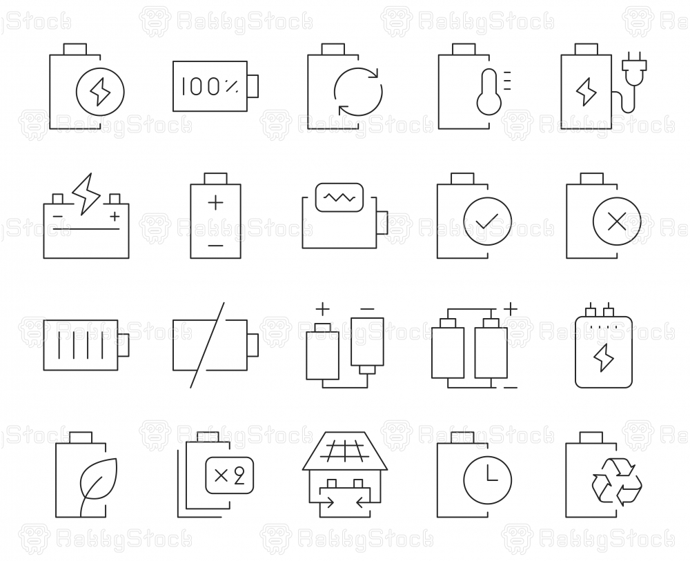 Battery - Thin Line Icons