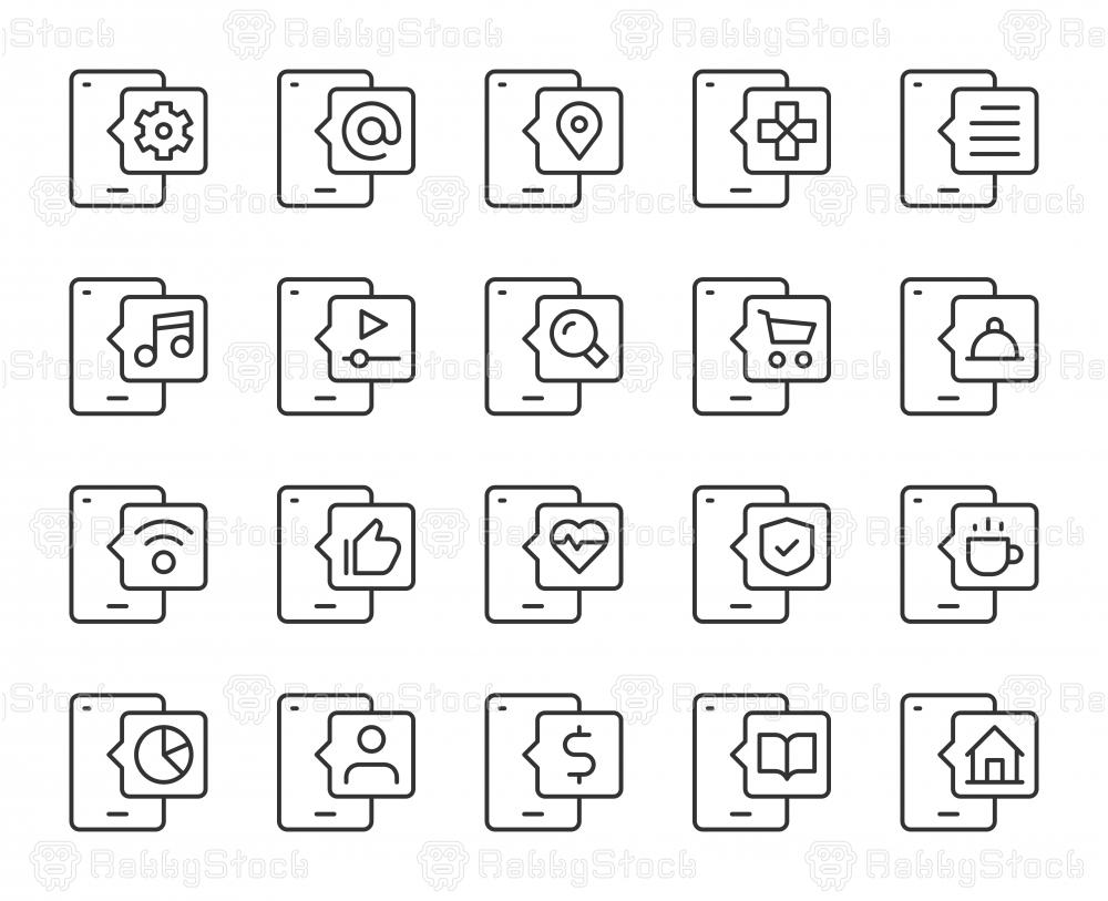 Smart Phone - Light Line Icons