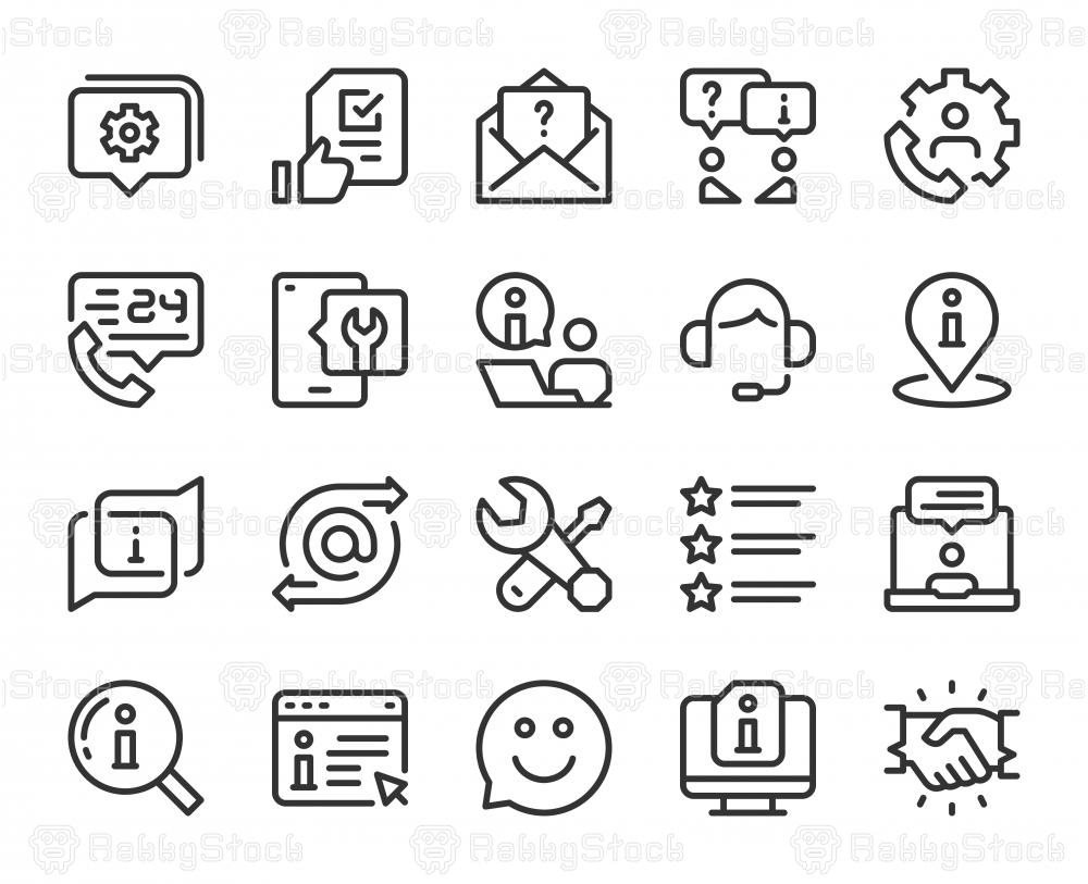 Customer Service - Line Icons