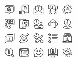 Customer Service - Line Icons
