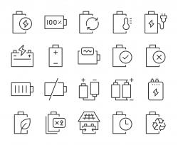 Battery - Light Line Icons