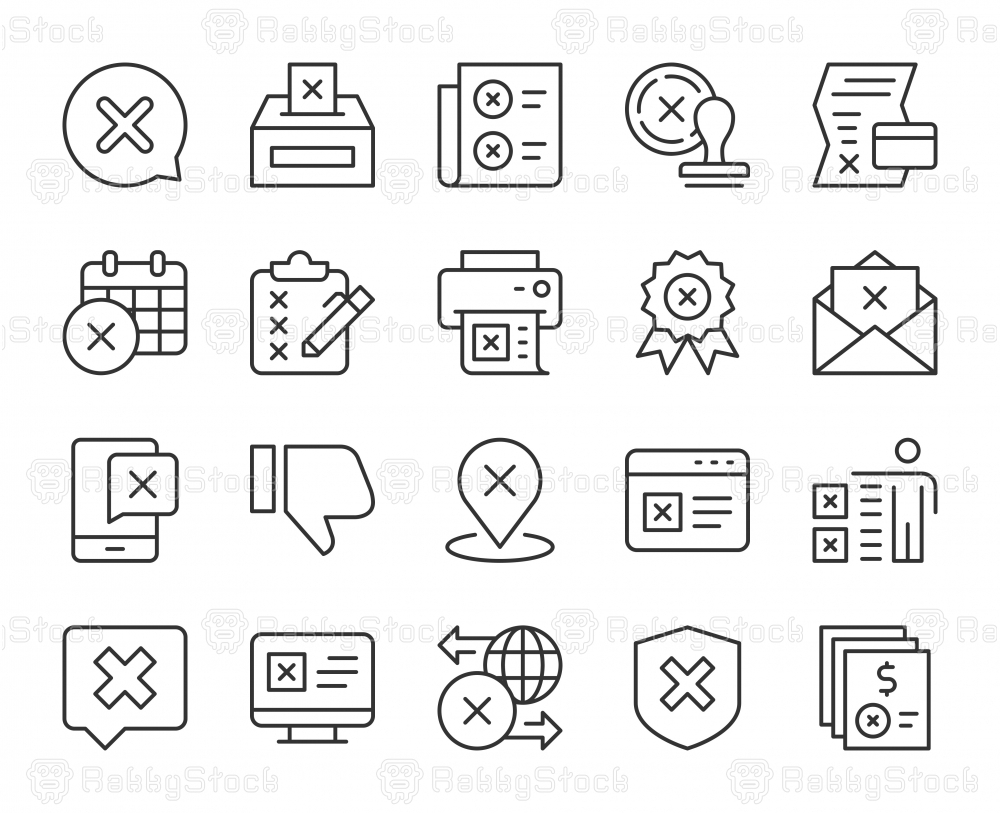 Rejection - Light Line Icons