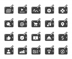 Digital Tablet Set 1 - Icons