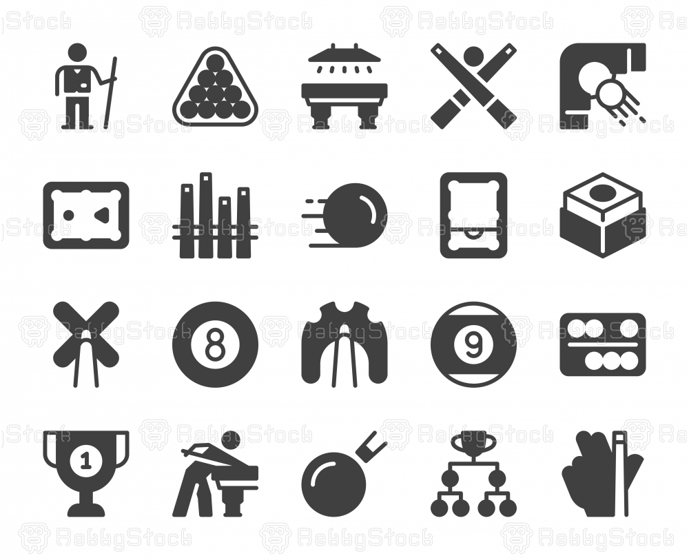 Snooker and Pool - Icons