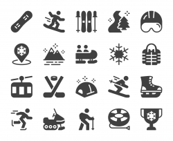 Winter Sport and Activities - Icons